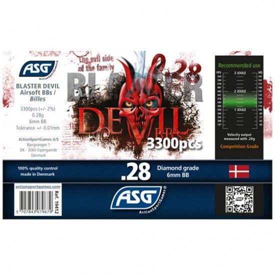 Blaster Devil 0.28g Airsoft BB