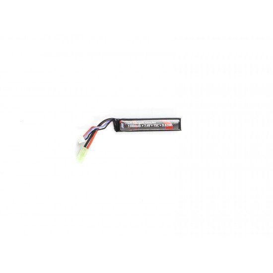 ASG Stock Tube Battery LiPO 7.4V 1300mAh 15C