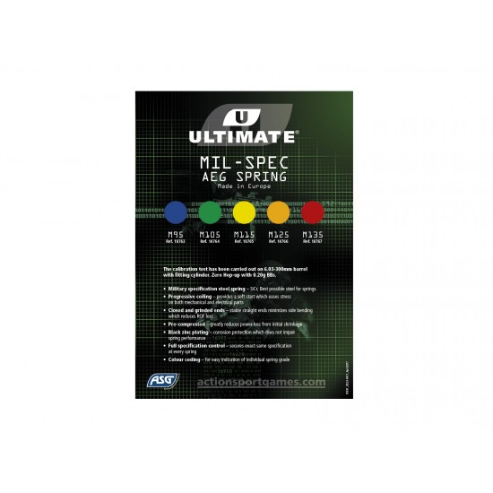 ASG M135 Ultimate Upgrade Spring ms05 Red