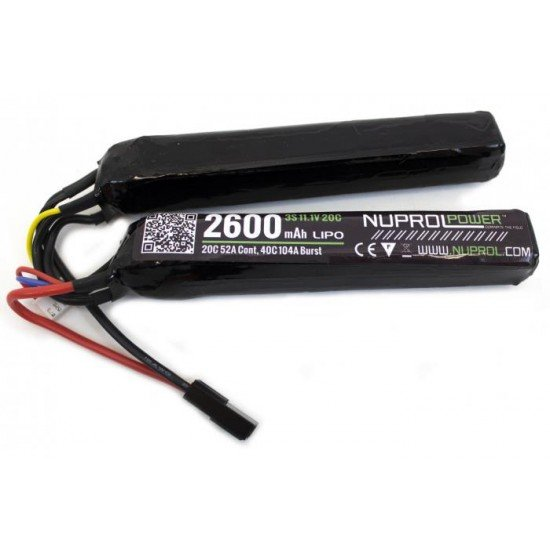 NP POWER 2600MAH 11.1V LIPO TWIN-STICK BATTERY