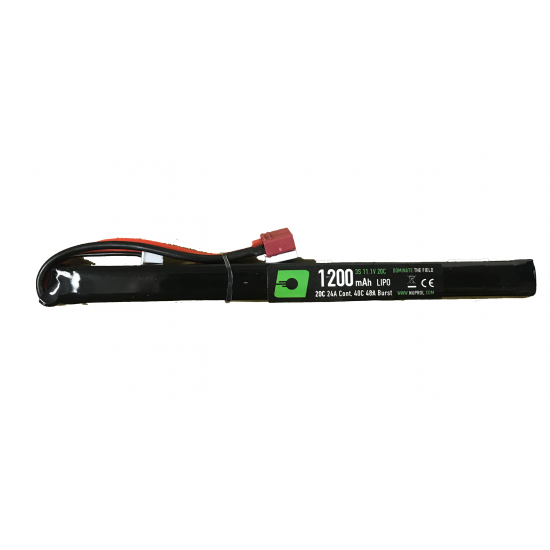 NP POWER 1200MAH 11.1V 20C LIPO SLIM STICK TYPE - DEANS